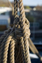 Tall Ship Rigging Stock Image