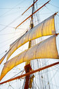 Tall Ship Sails Stock Photo