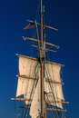 Tall ship in san diego harbor california Royalty Free Stock Photography