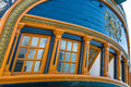 Tall ship transom details of the on the hms surprise Stock Image