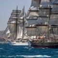 Tall Ships Full Sail Royalty Free Stock Photo