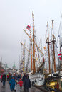 The tall ships races in bergen norway august unidentified people and sailing harbour on august at that time many sailing Royalty Free Stock Photos