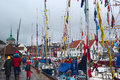 The tall ships races in bergen norway august unidentified people and sailing harbour on august at that time many sailing Royalty Free Stock Image