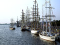 The tall ships races in riga latvia Stock Image