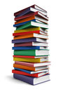 Tall stack of Books Royalty Free Stock Photo