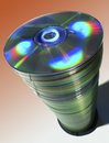 Tall stack of CDs. Stock Images