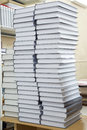 Tall stacks of thick books several Royalty Free Stock Photography