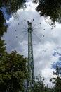 Tall tower chair ride tivoli amusement park copenhagen Royalty Free Stock Photos