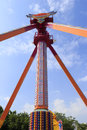 Tall tower in funfair red Royalty Free Stock Photos