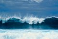 Tall waves surface ocean Royalty Free Stock Image