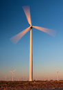 Tall Wind Turbine with motion blur Stock Images