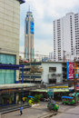 The tallest building in bangkok baiyoke sky thailand feb distance you can see skyscraper hotel is considered Royalty Free Stock Photography