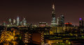 The tallest building in europe london skyline including shard which is shot from apartment at union street southwark Royalty Free Stock Image