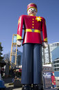 The tallest tin soldier in the world displayed new westminster bc canada Stock Photography