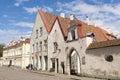 Tallin estonia tallinn june a quiet street in the historic center of tallinn Royalty Free Stock Image