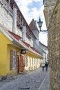 Tallin estonia tallinn june a quiet street in the historic center of tallinn Stock Photos