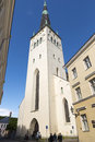 Tallin estonia tallinn june tower of st olaf s church in tallinn Stock Photos