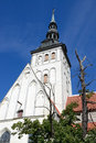 Tallinn church of st nicholas in vyshgorod of old estonia Stock Image