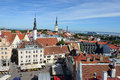 Tallinn estonia august panoramic view on august is the oldest capital city in northern europe with a population Royalty Free Stock Photos