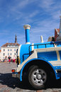 Tallinn estonia august sightseeing car on the central town hall square raekoja plats in estonia on august s old Stock Image
