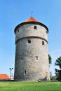 Tallinn estonia medieval tower kiek in de kok the park on the hill toompea Stock Photo