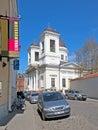 Tallinn estonia nikolskaya church may nikolaos the wonderworker vene street this belongs to moscow patriarchate russian Royalty Free Stock Photos