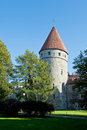 Tallinn estonia september golden leg tower part of famous city wall that is the defensive wall constructed around the city Stock Images