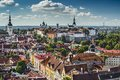 Tallinn estonia skyline of at the old city Stock Photography