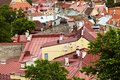 Tallinn estonia terracotta rooftop skyline Stock Image