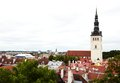 Tallinn estonia terracotta rooftop skyline Stock Photo