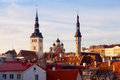 Tallinn estonia view of the old town europe Stock Photos