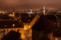 Tallinn night old town view christmas of the city of estonia Stock Photo