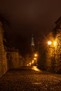 Tallinn night old town view christmas of the city of estonia Royalty Free Stock Photo
