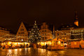 Tallinn night old town view christmas of the city of estonia Stock Photography