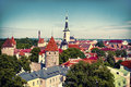 Tallinn old town estonia europe Stock Images