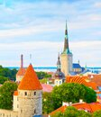 Tallinn Old Town skyline Estonia Royalty Free Stock Photo
