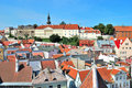 Tallinn. Old Town and Vyshgorod Royalty Free Stock Images