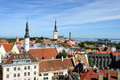 Tallinn panoramic view of old city estonia Royalty Free Stock Images