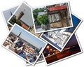 Tallinn photos a collage of estonian on the white background Royalty Free Stock Photography
