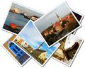 Tallinn photos a collage of estonian on the white background Royalty Free Stock Image