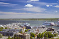 Tallinn sea port estonia june view of from the height of the castle tower estonia Royalty Free Stock Images