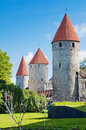 Tallinn, towers of the fortress wall Stock Image