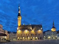 Tallinn Town Hall at dawn, Estonia