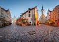 Tallinn town hall and olde hansa restaurant in the morning estonia Royalty Free Stock Image