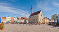 Tallinn Town Hall and Town Hall Square, Estonia Stock Photos