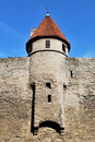 Tallinn, Vyshgorod. Small fortress tower Stock Photo