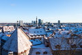 Tallinn winter panoramic view Stock Photo