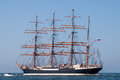 Tallship sedov at sea barque sail out parade of sail amsterdam netherlands Royalty Free Stock Photos