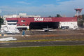TAM Airlines Hangar Congonhas Sao Paulo Brazil Royalty Free Stock Photos