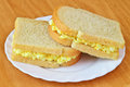 Tamago sando japanese sandwich with egg salad Stock Photo